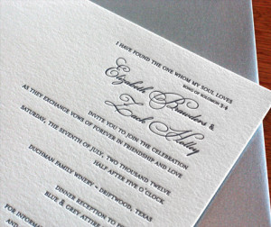 Fall Wedding Invitation Wording: Parents' Names