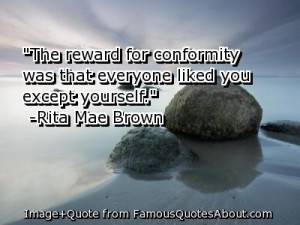 Conformity and individuality in a small