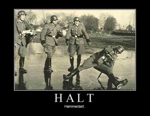 Funny Military Motivational Poster: Halt