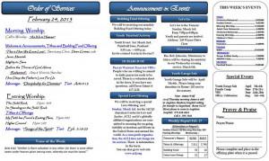 Baptist Church Bulletins