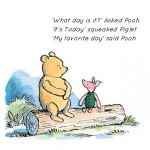 read the zen of pooh i believe winnie is very enlighteded