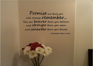 Possible quote for our Winnie the Pooh nursery.