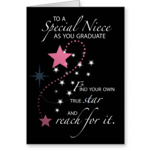 3730 Niece Graduation Star Greeting Card