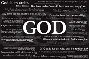 FAMOUS QUOTES ABOUT GOD Christian poster
