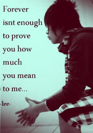 year ago 10 notes # emo # emo boy # sad quotes
