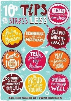 10 tips to stress less quotes via www.Facebook.com/PositivityToolbox