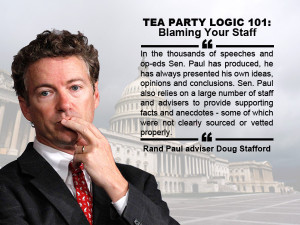Taking Personal Responsibility By Blaming Your Staff 101, by Rand Paul