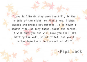 Inspirational quotes: Love and Driving
