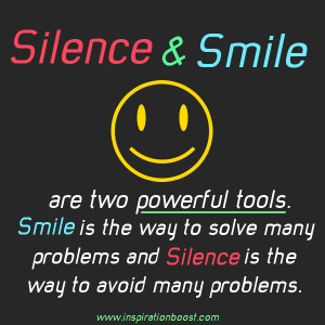 silence and smile quote