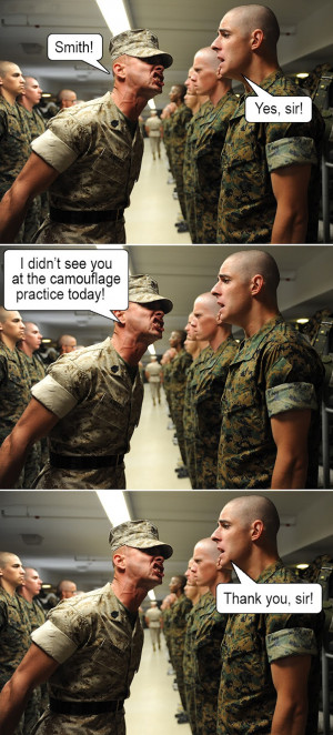 Funny Picture - Army Camouflage Practice