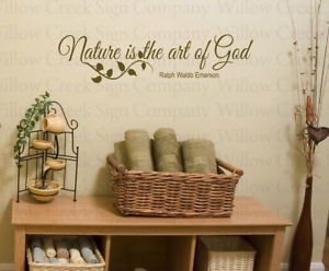 Details about Nature God Vinyl Wall Lettering art Words Decal Quote