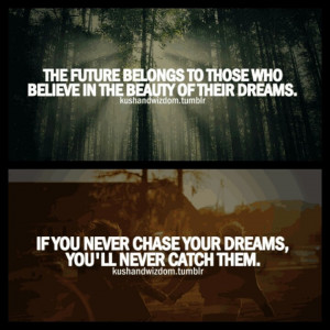 Believe in your dreams..dream chaser