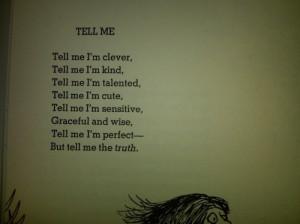honesty, love, poem, self esteem, tell me, want