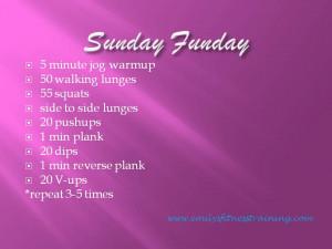 Sunday Funday Workout