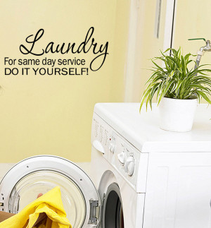 Details about Laundry Room Funny Wall Quote Decal Vinyl Wall quote ...