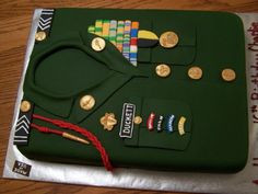 ROTC cake . Made for my nephew Charlie, it's a replica of his Overcoat ...