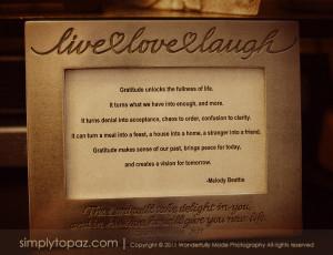 Live Life Gratitude Love...