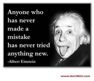 Albert Einstein: Mistakes