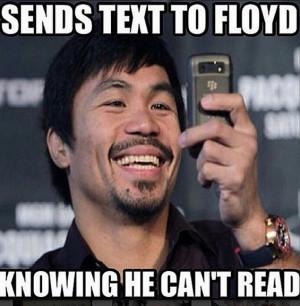 Manny Pacquiao Floyd Mayweather meme