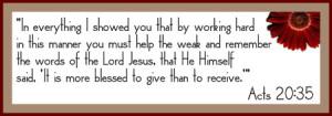 Giving Bible Verse