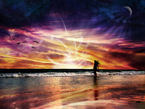 Beach Sunset by wusk