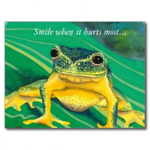 Tree Frog inspirational quote postcard