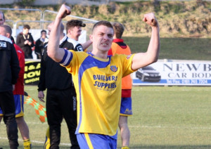 Neil Marshall celebrates victory at Salford Picture Gareth Lyons