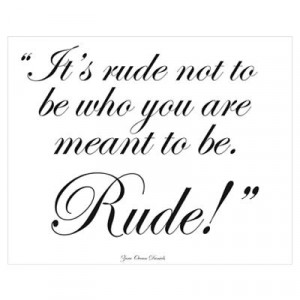 CafePress > Wall Art > Posters > Divine Comedy Quotes - 'Rude' Poster
