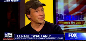 Mike Rowe on Huckabee, One Of The Best Quotes On Jobs Yet
