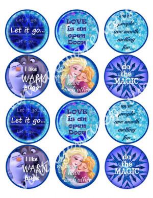 Disney's FROZEN Memorable QUOTES Craft Circles - Instant Download ...