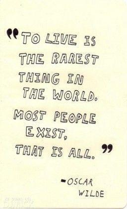 Oscar Wilde quote #quote #live #life