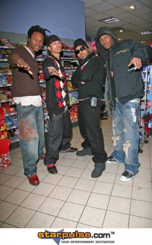 Pretty Ricky In Sainsburys After An Appearance On Radio 1
