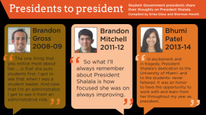 Brandon Mitchell, 2011-2012 Student Government President, recalls that ...