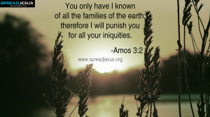 BIBLE QUOTES AMOS 3-2 HD-WALLPAPERS You only have I known of all the ...