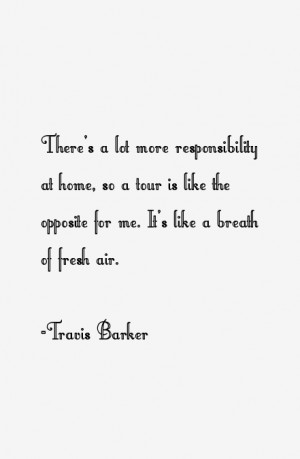 Travis Barker Quotes amp Sayings