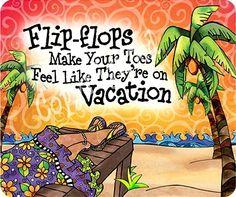Flip flops painting by Suzy Toronto: http://beachblissliving.com/beach ...