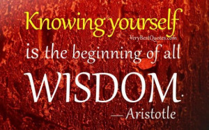 Famous wisdom quotes knowing yourself is the beginning of all wisdom