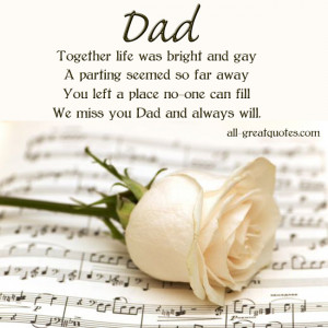 ... FOR >> In Loving Memory Verses For Father Dad Memorial Poems For Dad