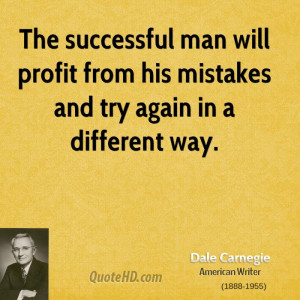 Successful Man Quotes The successful man will profit