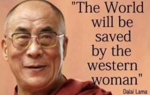 Dalai Lama western woman crop