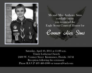 Eagle Scout Court Of Honor Invitation Cards