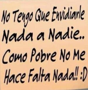Zero Envidias #Spanish #quote
