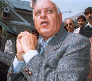 Union minister farooq abdullah