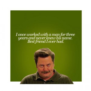 Best quotes by Ron Swanson in