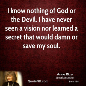 know nothing god the devil