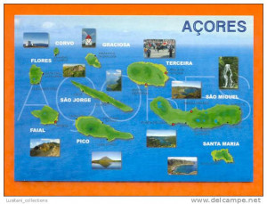 Terceira Azores Portugal Map