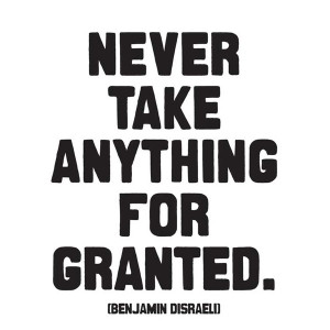 Never Take Anything For Granted Quotable Magnet
