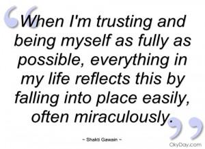 when im trusting and being myself as shakti gawain