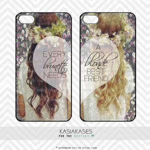 BLONDE BRUNETTE bff Case / Best Friends iPhone 4 Case Daisy iPhone 5 ...