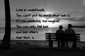Powerful Love Quotes Love in undefinable.